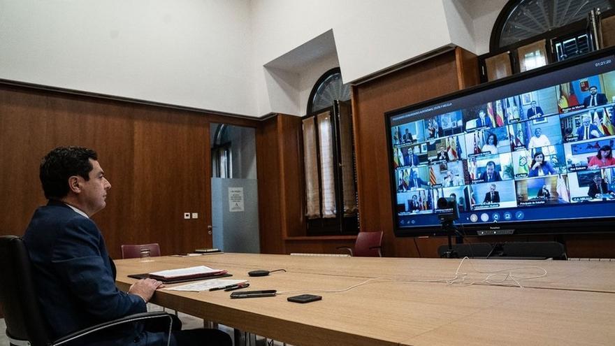 Moreno reprocha a Sánchez que sólo se permita a País Vasco y Navarra gestionar el Ingreso Mínimo