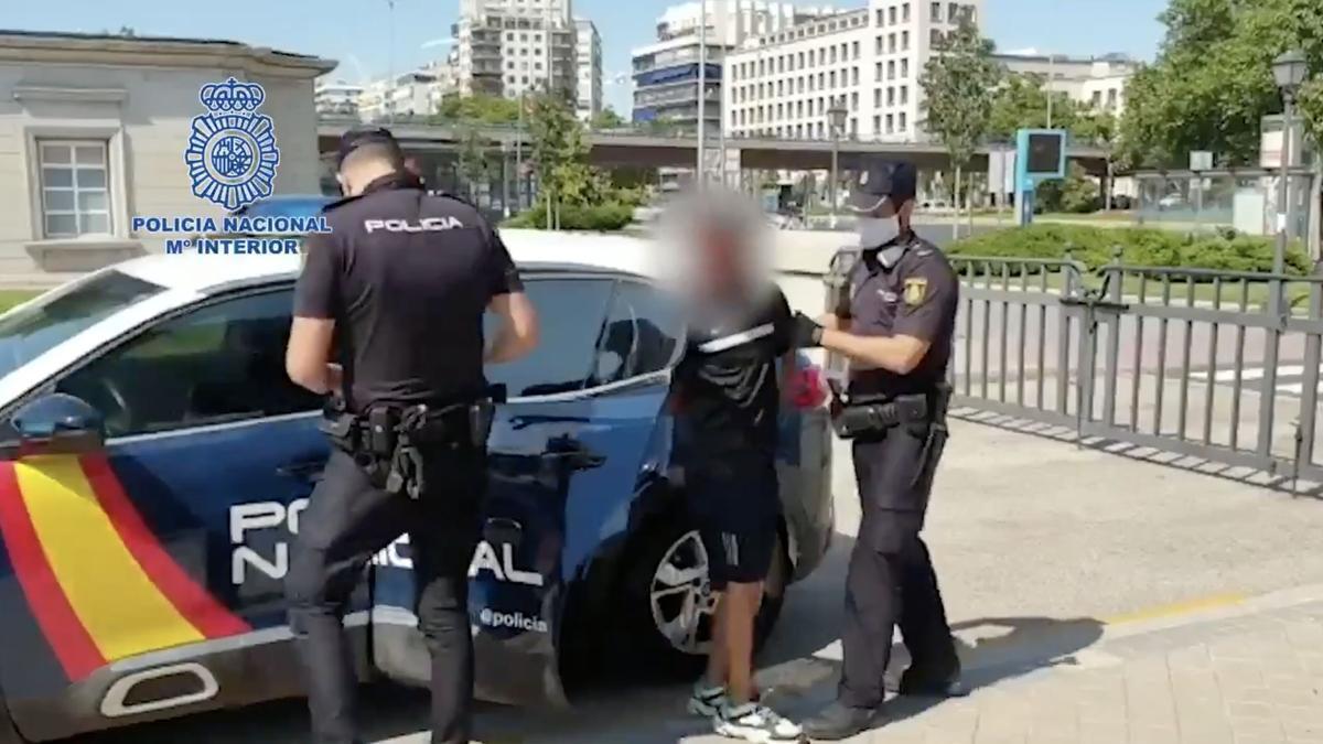 Imagen de la detención distribuida por la Policía.