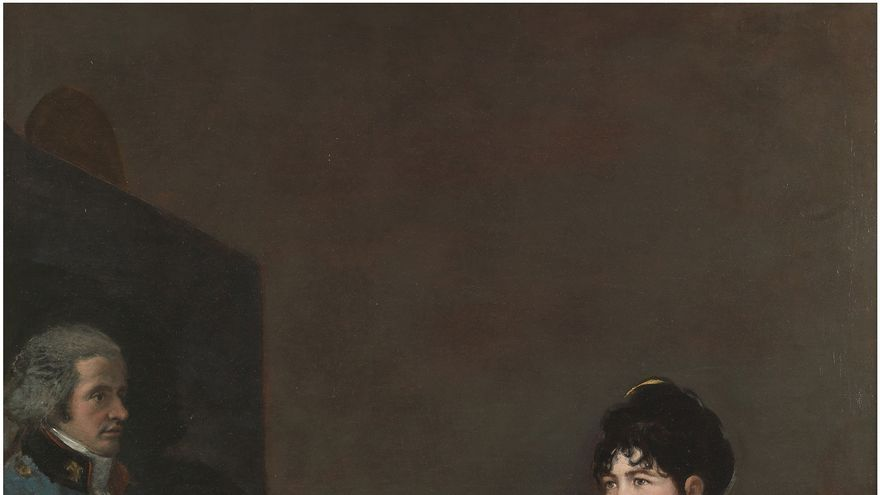 C:\fakepath\11.. La marquesa de Villafranca pintando a su marido. Francisco de Goya. Óleo sobre lienzo, 195 x 126 cm. 1804.jpg