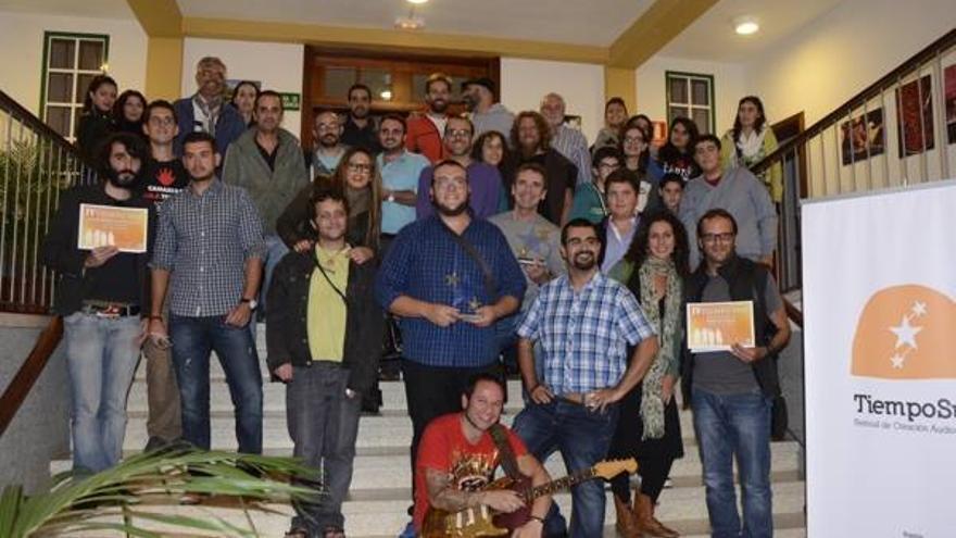 En la imagen de archivo, participantes de la cuarta edición del Festival de Creación Audiovisual  'Tiempo Sur'
