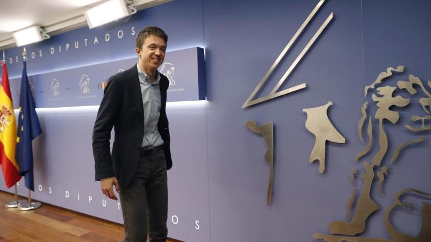 Íñigo Errejón antes de abandonar su escaño en el Congreso de los Diputados