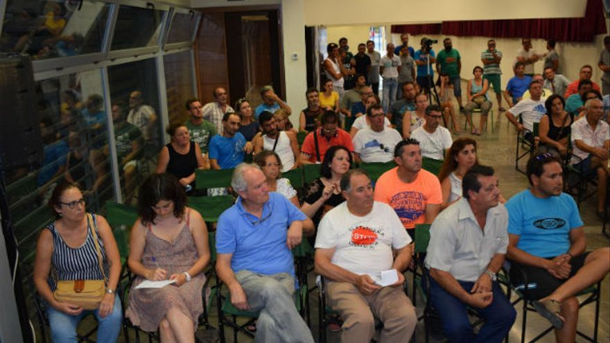 Asamblea de jornaleros celebrada en Palma del Río.
