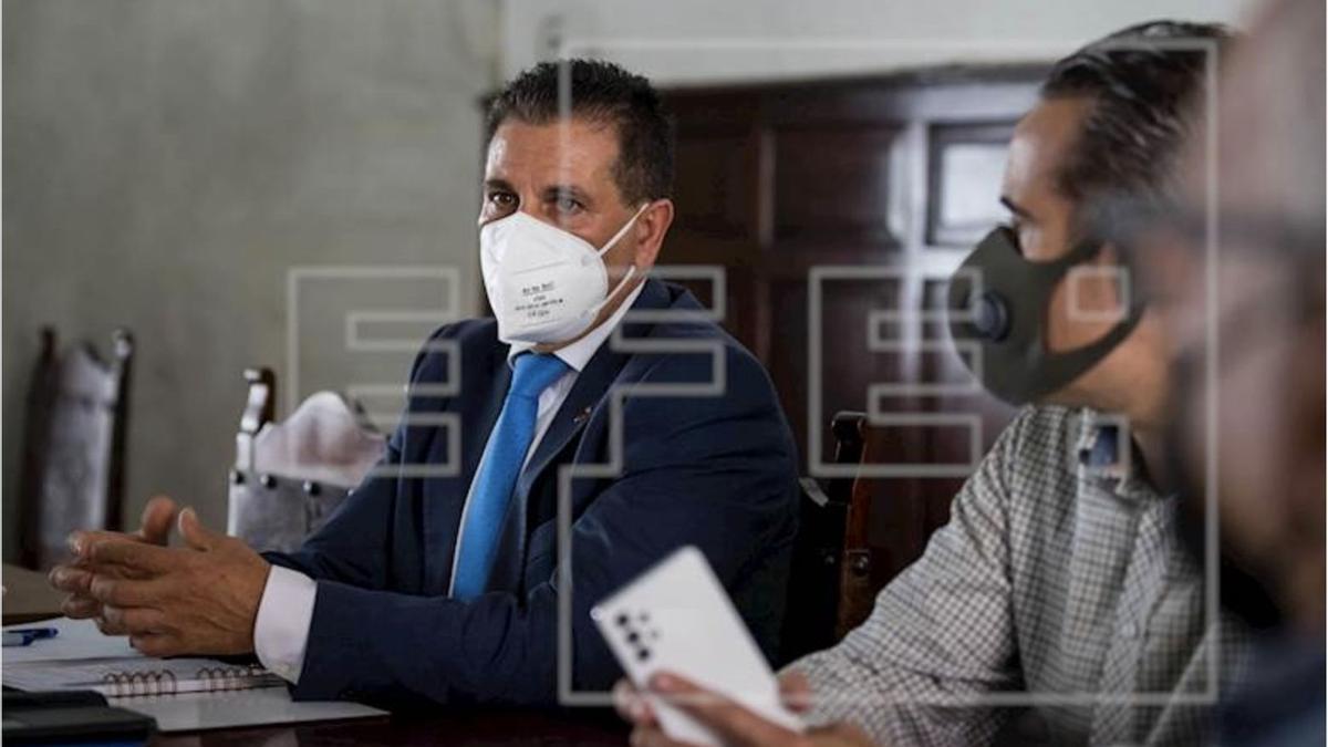 Juan Rafael Zamora Padrón. en su visita a Venezuela. EFE/ Miguel Gutiérrez