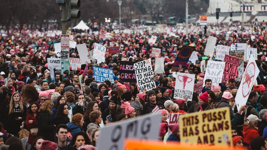 La marcha de las Mujeres en Washington convocada en 2017.