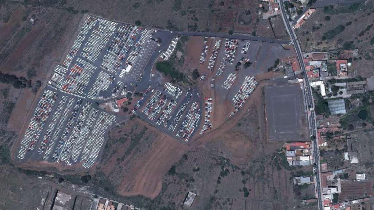 Imagen aérea de la parcela que ocupa Tricampa en Geneto