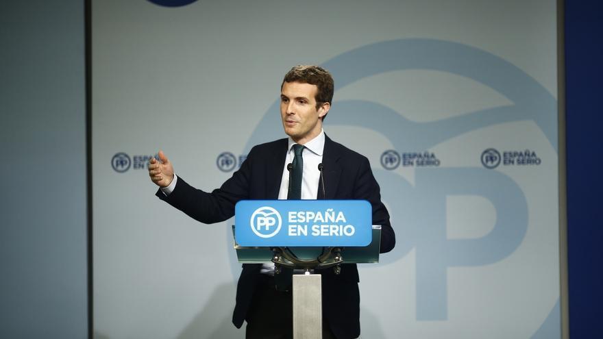 """Casado apela al voto útil al PP: """"Si no quieres que gobierne Podemos, vota al Partido Popular"""""""
