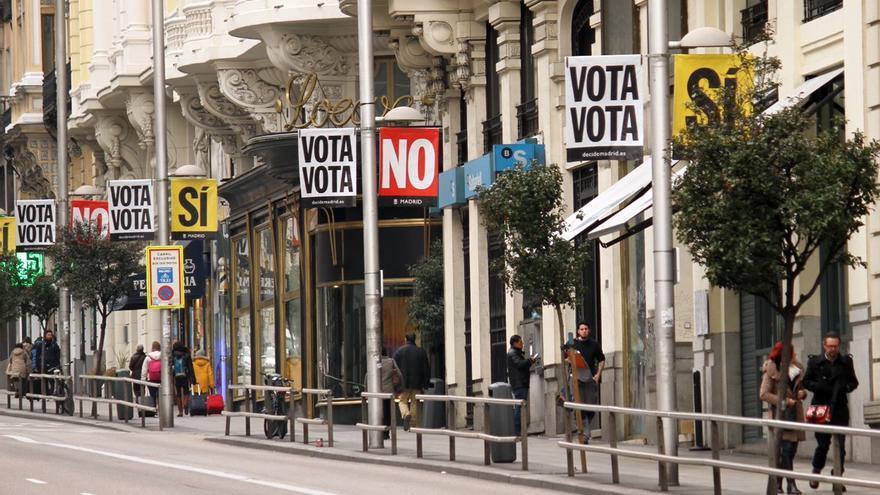 Madrid se llena de publicidad de la consulta ciudadana. Foto: Decide Madrid (Ayuntamiento de Madrid)
