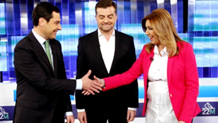 """Corrupción y """"pim pam pum"""", en el debate TV entre candidatos en Andalucía"""