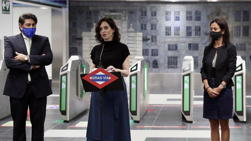 Ayuso inaugura la nueva estación de Metro de Gran Vía tras 1.060 días cerrada