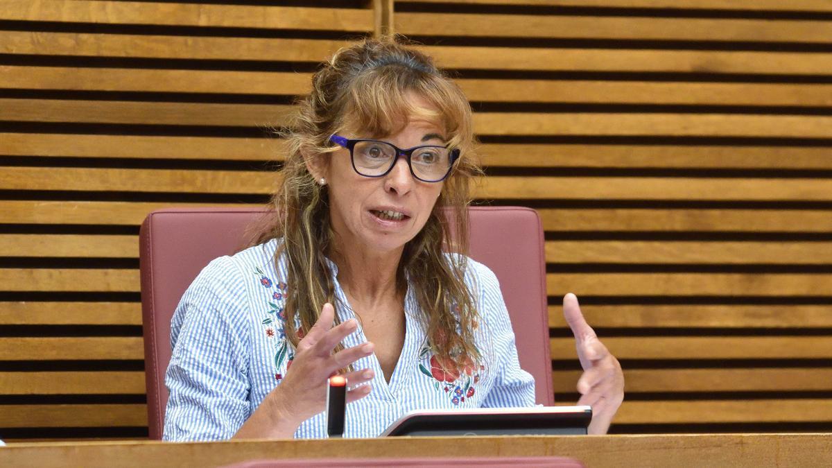 Rebeca Serna, exdiputada de Vox en las Corts Valencianes, durante una comisión de Política Social.