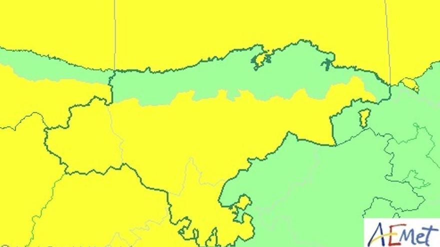 Cantabria continuará este lunes en aviso por nevadas y fenómenos costeros