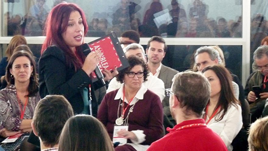 La candidata del Partido Socialista (PSOE) a la Presidencia del Gobierno de Canarias, Patricia Hernández.