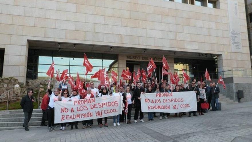 Protesta de los trabajadores del Museo del Ejército / CCOO