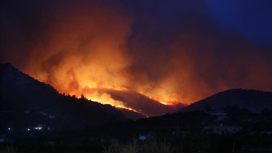 El incendio de Vall d'Ebo que se inició la semana pasada fue el mayor incendio forestal del año en España al quemar 1.715 hectáreas. EFE
