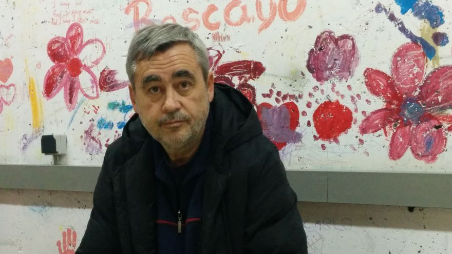 Ángel Manuel Varas Carrasco, presidente del Club Deportivo Racing La Paloma Fútbol Sala. / L. O.