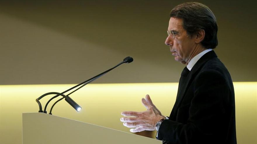 """Aznar: """"Lo peor en Cataluña es que la ilegalidad sea la norma"""""""