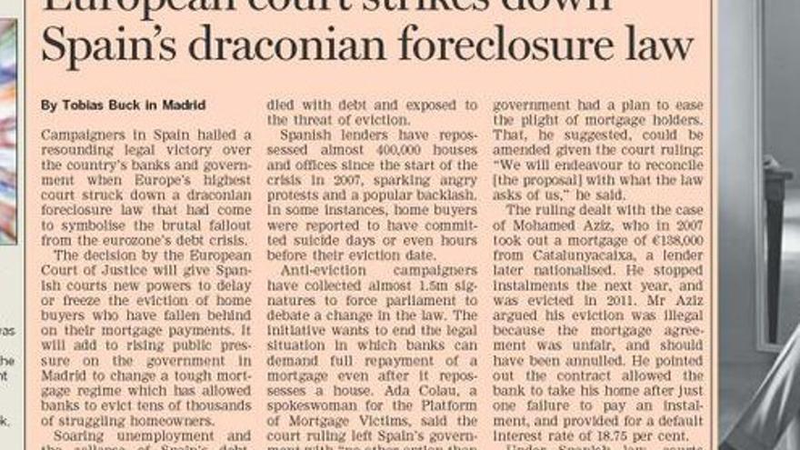 La ley draconiana, según el Financial Times
