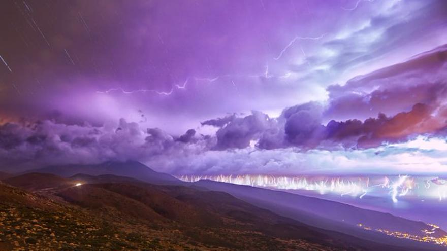 Imagen de la tormenta caída en Tenerife el sábado 26 de octubre