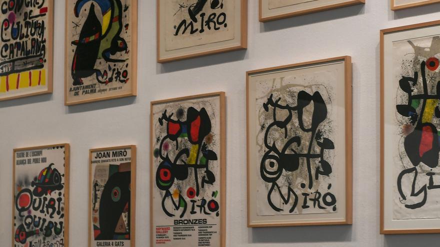Vista en sala de Joan Miró. Ordre i desordre. IVAM.