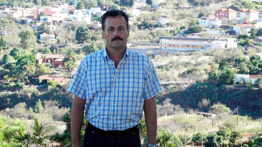 Vicente Rodríguez es alcalde de Puntagorda desde hace 14 años.