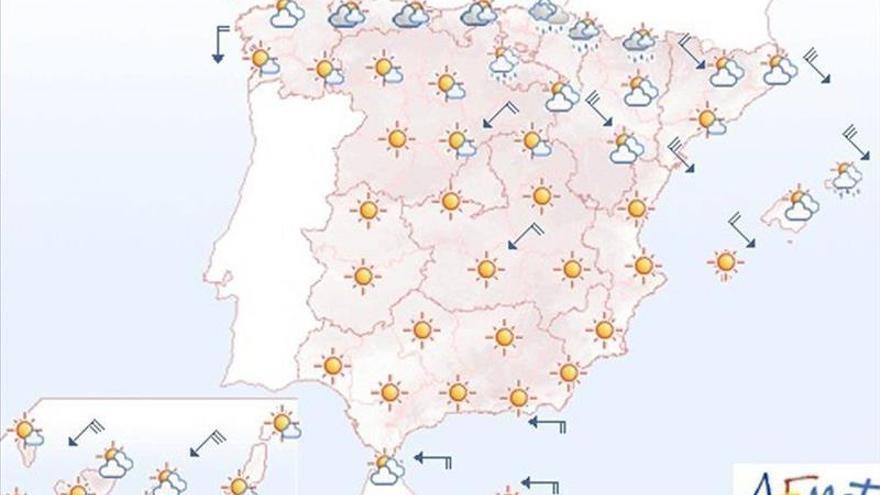 Hoy, vientos fuertes en el noreste peninsular, Baleares y Canarias