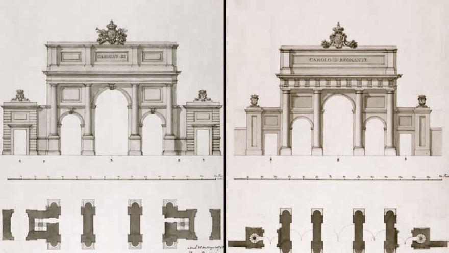 Diseño de la Puerta de Alcalá de Madrid