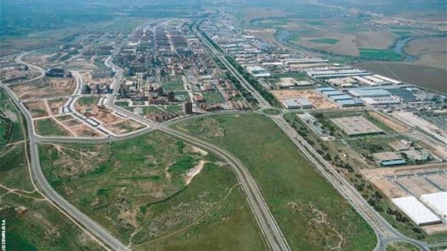 Vista aérea de la zona de ubicación del Barrio Avanzado