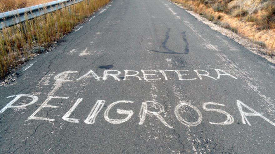 Carretera Mazarulleque, en la Alcarria conquense