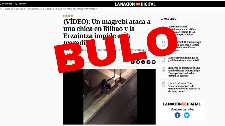 """Bulo este vídeo no corresponde a un """"ataque"""" de un hombre """"magrebí a una chica en Bilbao"""""""