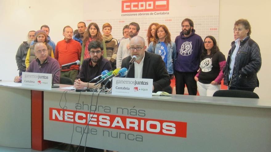 IU, Equo e independientes crean la coalición Ganemos Junt@s Cantabria