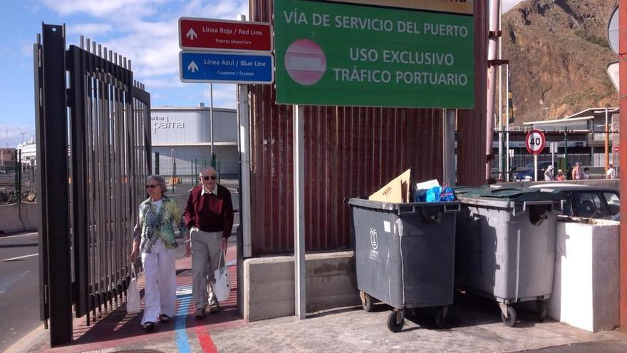 En la imagen, zona de entrada y salida norte del puerto de Santa Cruz de La Palma.