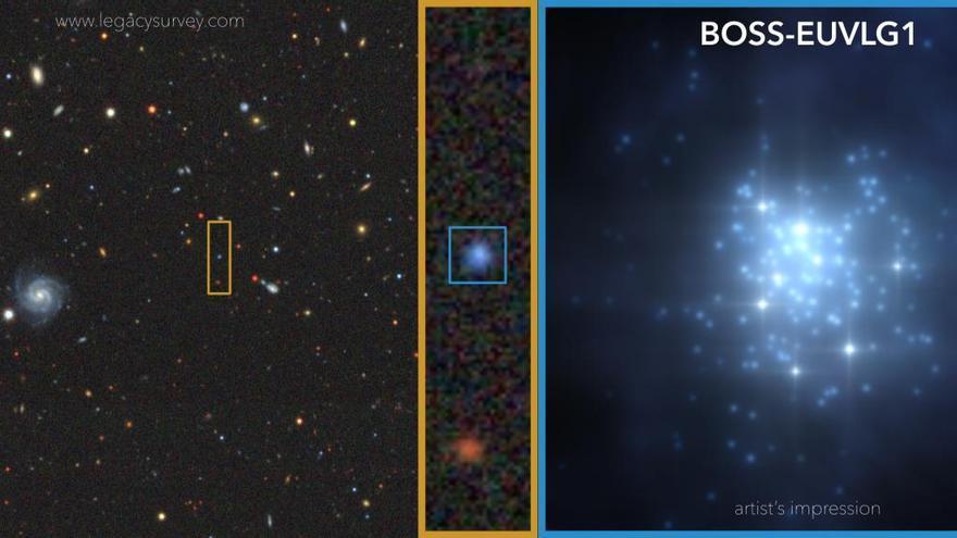 Descubren con  el Grantecan  la primera galaxia con una luminosidad ultravioleta comparable a la de un cuásar