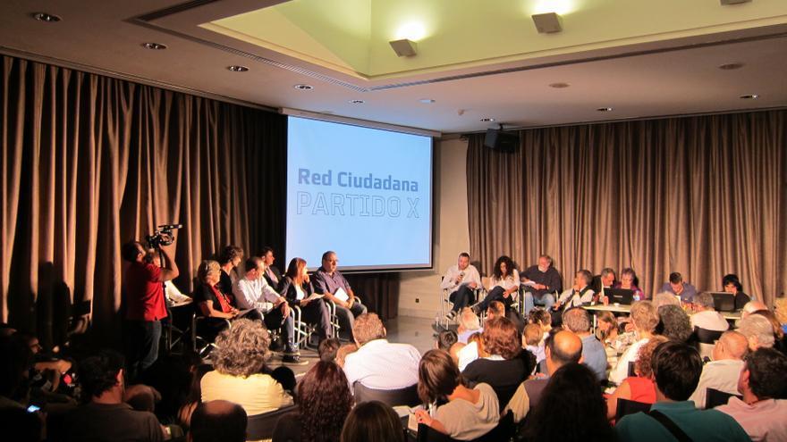 Presentación pública del Partido X el pasado 8 de octubre en Madrid.