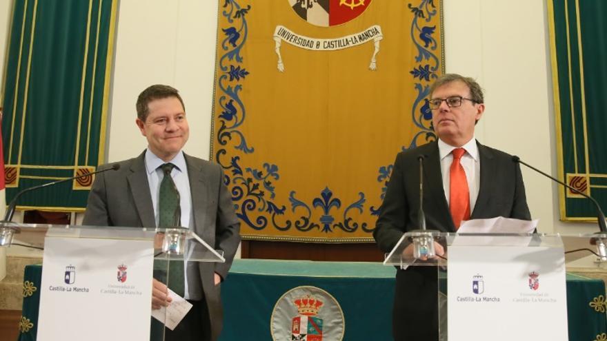 García-Page (izq.) y Collado (dcha.)
