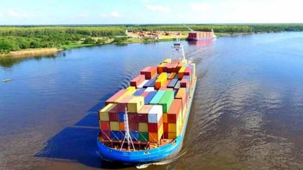 Por la Hidrovía salen el 75% de las exportaciones nacionales.