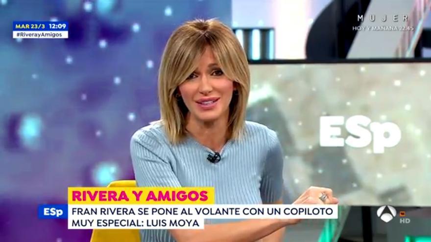 Susanna Griso, al presentar 'Rivera y amigos'