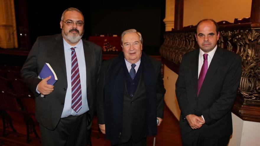 David Sanz, Jerónimo Saavedra y Pedro Poggio. Foto: NOVAFOTO.