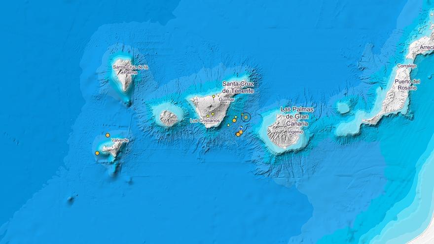 Últimos seísmos registrados en Canarias