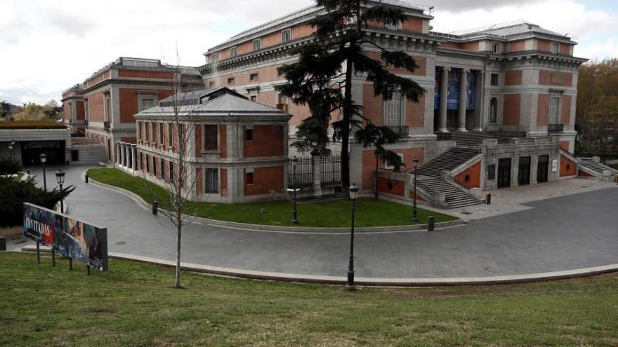 Vista general del Museo del Prado que permanece cerrado.