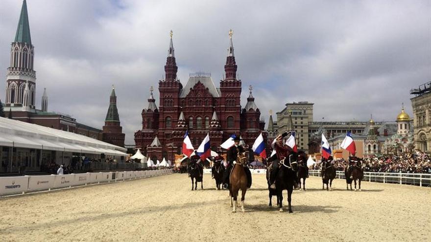 La escuadra ecuestre chilena se despide de Moscú con un colorido espectáculo
