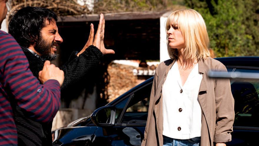 Imagen del rodaje de 'Malaka', el nuevo thriller de TVE