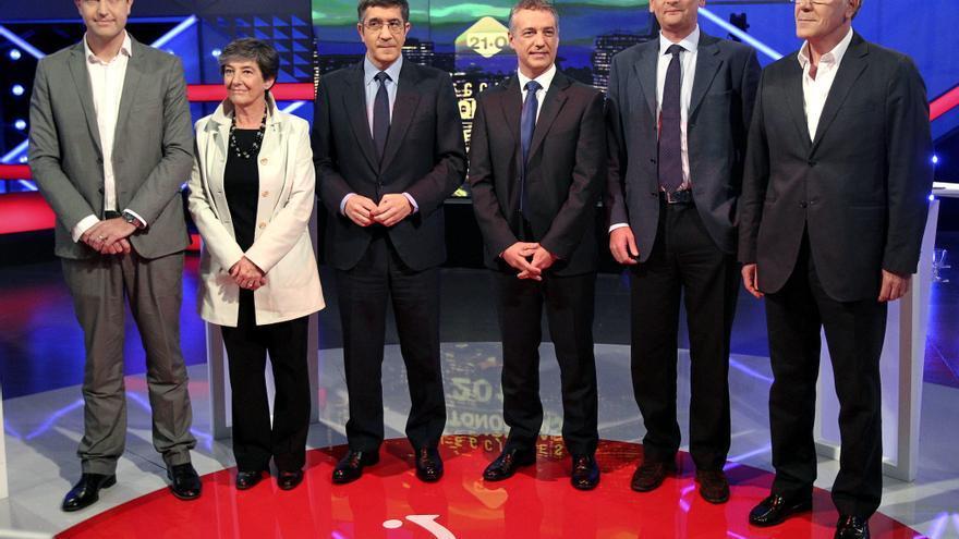 Candidatos durante un debate electoral.