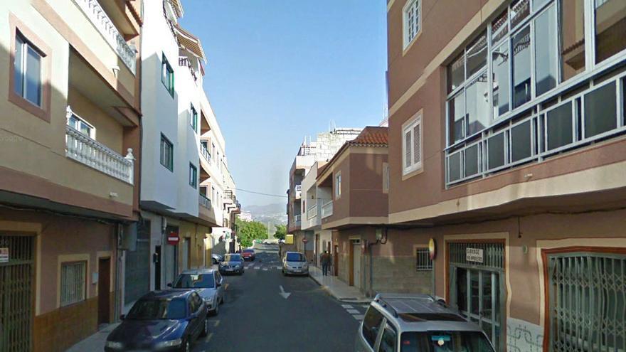 Calle de El Fraile donde se produjo el crimen, en Arona