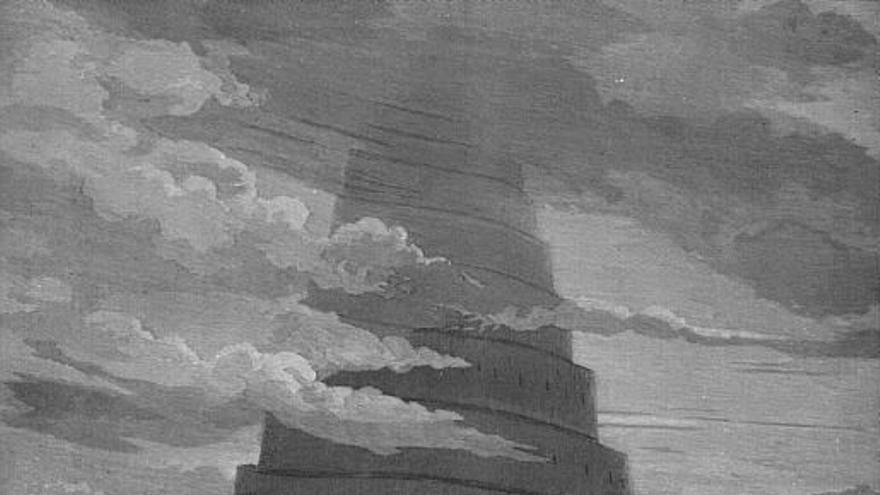 Grabado titulado 'La confusión de las lenguas', de Gustave Doré