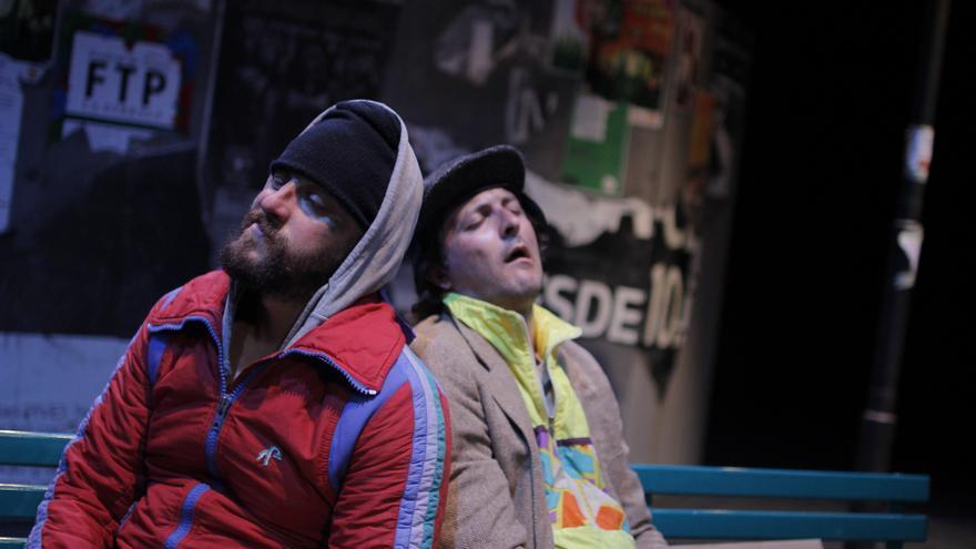 Los dos protagonistas del espectáculo 'Desgraciados'.