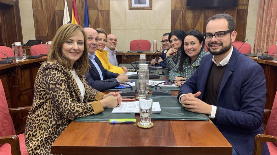 Consejeros de CC en el Cabildo.