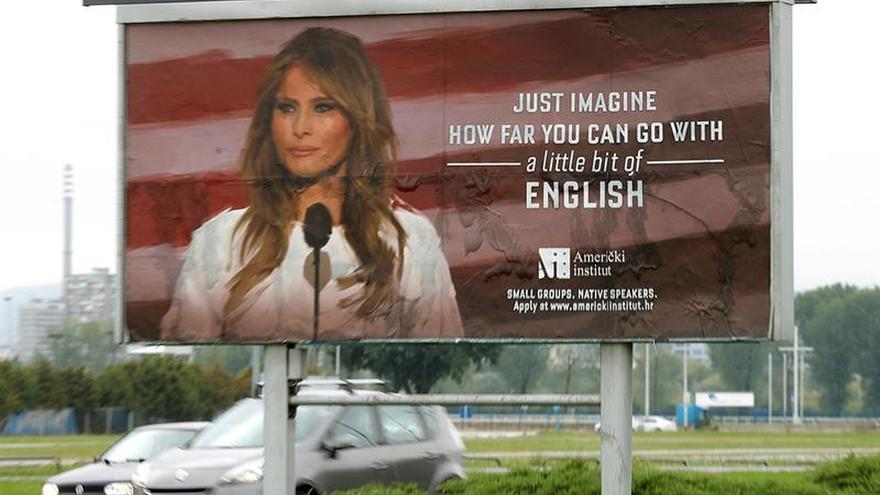 Melania Trump exige retirar de Zagreb carteles publicitarios con su imagen