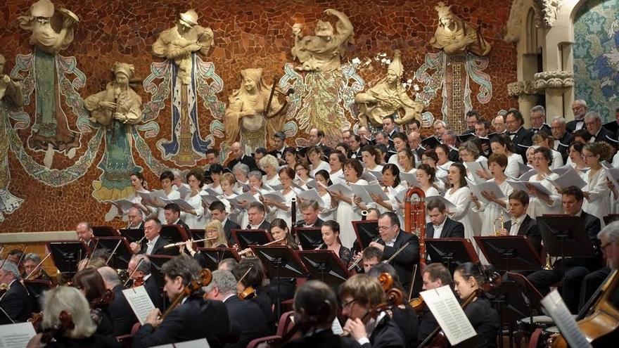 El Orfeón Pamplonés, este domingo en el Palau de la Música de Barcelona