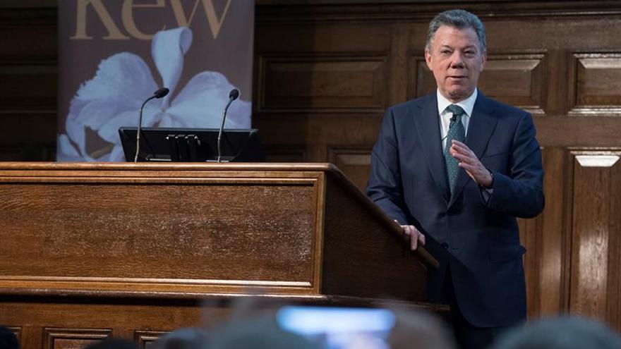Santos, premiado en Londres por su trabajo por la biodiversidad en Colombia