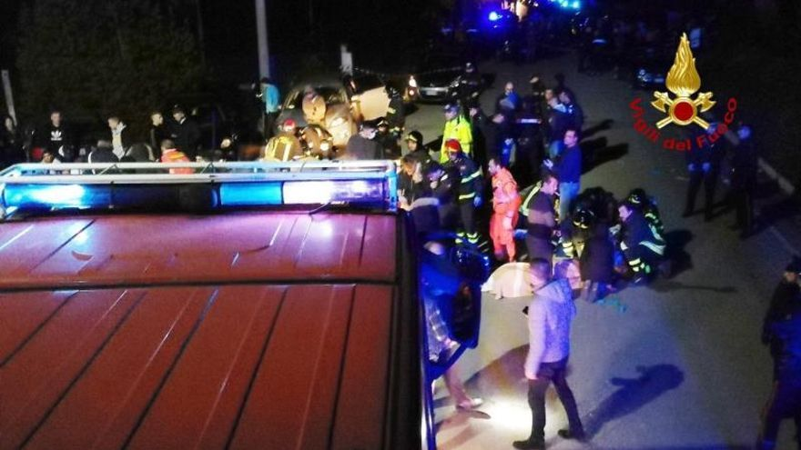 Seis muertos y decenas de heridos tras una estampida en un concierto en Italia